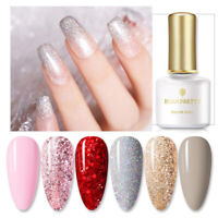 6 Pcs/Set BORN PRETTY 6ml UV Gel Polish Glitter Soak Off Nail Art Varnish Decor