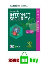 Kaspersky Internet Security 2018 - 3 Users, 1 Year (Windows, Mac, iOS, Android)