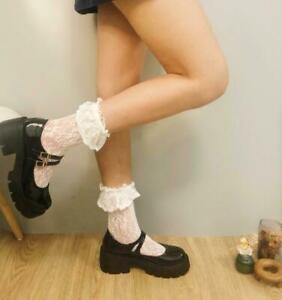Womens Lolita Mary Jane Chunky Heel Platform Shoes Buckle Round Toe Cosplay Pump