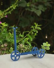 Miniature Dollhouse FAIRY GARDEN Accessories ~ Mini Blue Metal Scooter ~ NEW