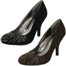 Calzado de mujer zapatos de salón textil de color principal negro