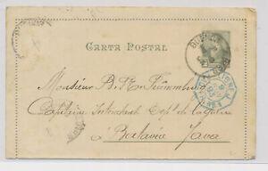 LM91074 Argentina 1893 postal stationery fine postcard used
