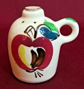 """Purinton Slip Ware Pottery Mid Century Modern Apple Pattern SALT SHAKER 2.5"""""""