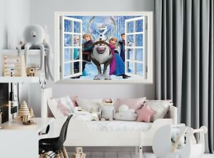 Frozen 3D Window Wall Sticker Poster Vinyl Decal Mural Disney Nursery Girl Room