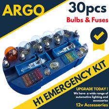 H1 Emergency Light Bulb Fuse Car Kit Spares 30 Pc 233 Ba9s 382 380 1156 1157 55w