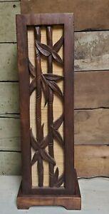 Hawaiian tiki wood bamboo vintage lamp Polynesian