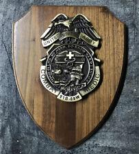 US Army Combat Medic 68 whiskey EMS EMT Paramedic Badge Medallion