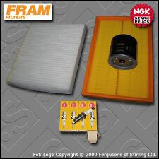 SERVICE KIT VW POLO (9N) 1.4 16V BKY FRAM OIL AIR CABIN FILTER PLUGS (2004-2008)