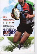 Programme Rugby Union Premiership Rugby 7's series @ Twickenham Stoop 16.7.2010