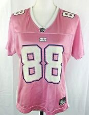 Reebok NFL Women Medium Harrison # 88 Short Sleeve Pink & White Jersey  WM2