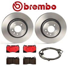 For Range Rover Sport Front Brake Kit Disc Rotors Ceramic Pads and Sensor Brembo