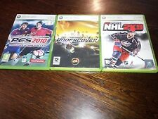 LOT DE 3 JEUX XBOX 360 ( NHL 2K9 , PES 2010 , NEED FOR SPEED UNDERCOVER )