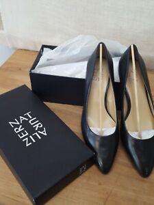 Women's Naturalizer Carmen Pump Black Leather Size US 8M