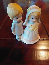 Lefton Christopher Collection Vintage Wedding Cake Topper, Bride & Groom #04466