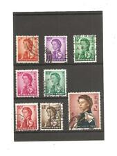 Hong Kong Queen Elizabeth II 8 Definitive stamps. 1962.
