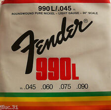 Jeu de cordes basses FENDER 990L - 45 à 90 - pur nickel -  guitare basse
