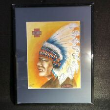 Chief Illiniwek Framed Matted Photo - Go Fighting Illini! - Hail to the Chief