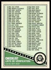 2019-20 UD OPC O-Pee-Chee Retro Base #500 Checklist