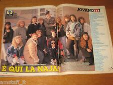 TV SORRISI E CANZONI=1988/52=JOVANOTTI=LORENZO CHERUBINI=ARTICOLO DI 4 PAGINE=