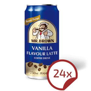 Mr. Brown VANILLA / Vanille - leckeres Kaffee Kaltgetränk 24 x 250 ml