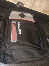 Carbrini Lightweight Padded Backpack Black And Red