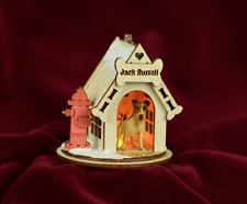 Ginger Cottages K9 Cottages Jack Russell Terrier Xmas Ornament Made In Usa K9111