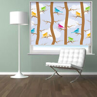 Pattern With Birds And Trees Printed Photo Picture Roller Blind Blackout