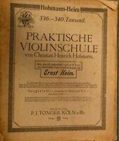 Christian Heinrich Hohmann Heim Praktische Violinschule Ernst Heim 547b H9852