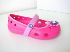 Crocs Ballerina keeley petal kids pink rosa C 9 Gr. 25 26 neon magenta