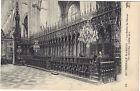 80 - cpa - La Cathédrale d'AMIENS - Les Stalles du Choeur