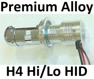 1 x H4 Premium Alloy HID Globe Bulb 12V 55W 4300K or 6000K or 8000K or 10000K