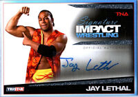 TNA Jay Lethal 2011 Tristar Signature Impact SILVER Autograph Card SN 14 of 99