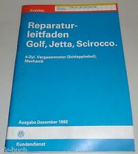 Werkstatthandbuch 4-Zyl. Vergaser(Schlepphebel),Mechanik VW Golf Jetta Scirocco