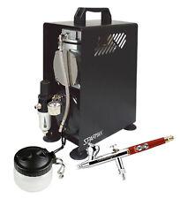 Profesional Aerografía Kit Infinity crplus Aerógrafo & Sparmax 610h Compresor