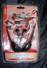 Cuffie Stereo Set 2 pezzi di auricolari e cuffie Teccus By Vivaco TSR100 NUOVO