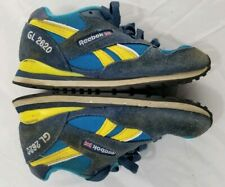 REEBOK CLASSIC Blue and Yellow GL2620 US Youth 11 1/2