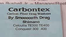 1 Set Carbontex Drag Washers Fits Shimano Calcutta TE300-400-401, Conquest 300