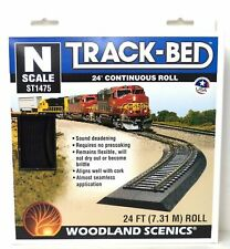 "Woodland Scenics ST1475 Track-Bed 3mm x 1 1/4"" x 24' Continuous Roll"