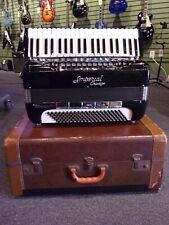 Imperial Chicago Tonemaster Tone Chamber Full Sized Piano Accordion w/Case Black