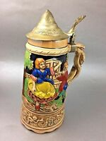 Vintage Stein Music Box Japan Lustreware How Dry I Am