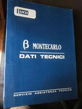 LANCIA BETA MONTECARLO SERVIZIO ASSISTENZA TECNICA DATI TECNICI-manuali officina
