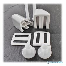 CELMAC GENUINE REPLACEMENT WC TOILET SEAT HINGES & BOLTS DPP FITTINGS IN WHITE