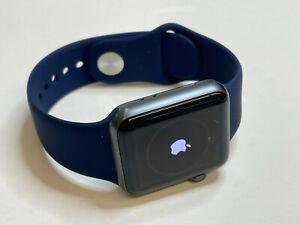 Apple Watch Series 3 GPS Space Grey Aluminum 38mm (3rd gen) New Blue Band