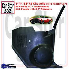 "Custom Autosound KCHV-68/2-COM Kick Panels&6.5"" Speakers 68-72 Chevelle w/o A/C"