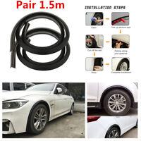 Rubber 1.5M 2X Wheel Arch Trim Fender Flare Wheel Eyebrow Protector trim Strip