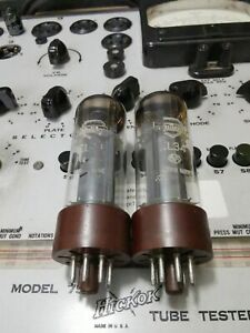 Pair (2) Early Xf1 Mullard EL34 6CA7 with Double Round Getter