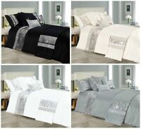 Sequin Quilt Duvet Cover Set Sequence Bedding Double King Super King, Bed Runner