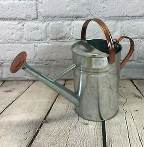 Metal Watering Cans Small & Large Vintage Style With Copper Trim Various Colours
