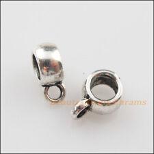 40Pcs Tibetan Silver Tiny Charms Bail Beads Fit Bracelet 6x8.5mm