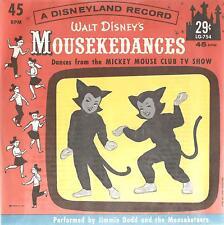 Walt Disney's Mousekedances, Jimmie Dodd & Mouseketeers; Super Rare 45 & Sleeve